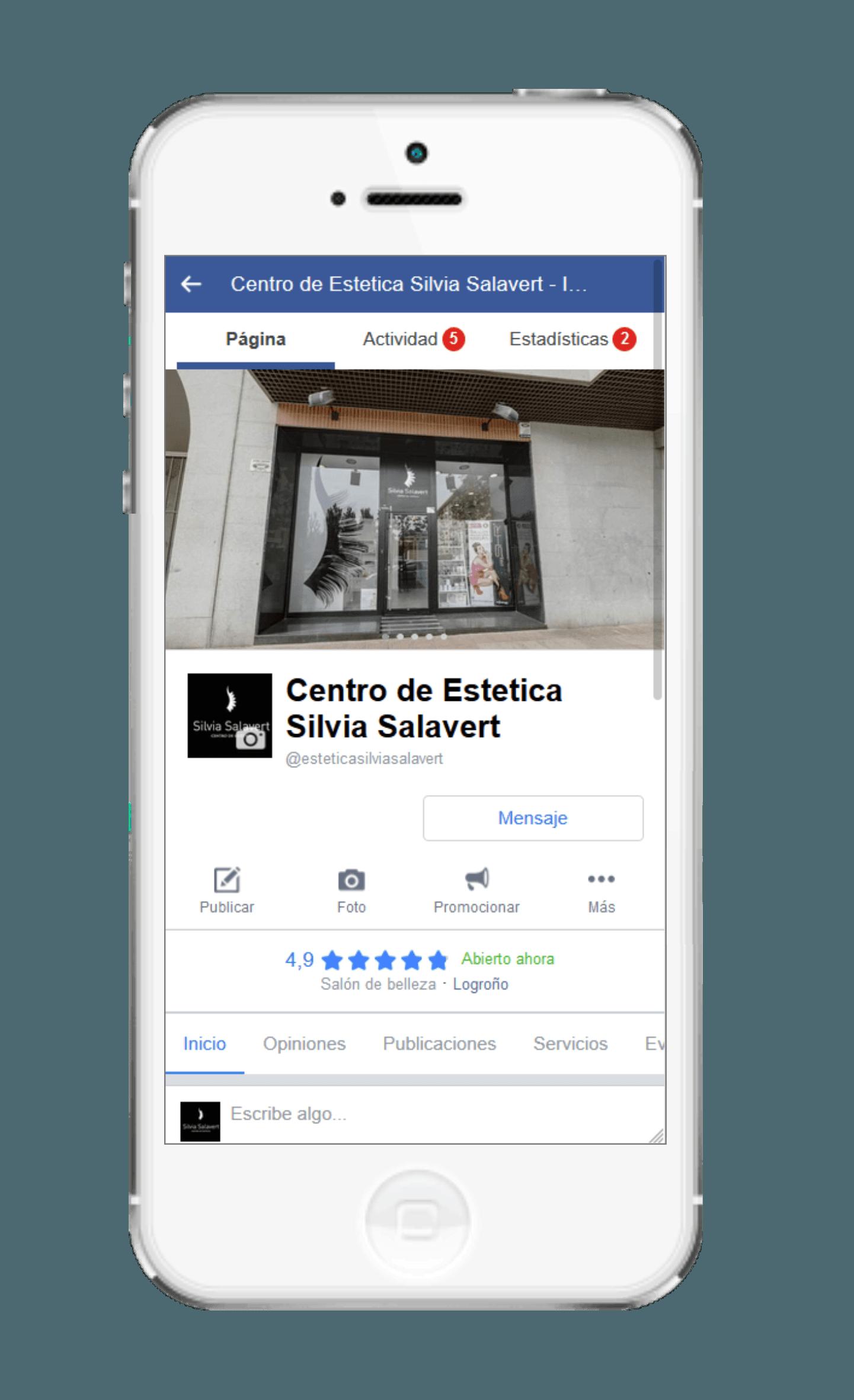 Centro Estético Silvia Salavert⭐<br><br>  Gestión de Redes Sociales <br><br><br><br><br><br> Diseño gráfico<br>  Optimización de Google Business<br><br>  Publicidad online<br>  Posicionamiento SEO|SEM<br><br>